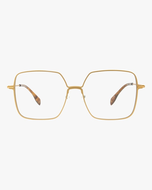 MITA Gold Oversized Blue Block Glasses 0
