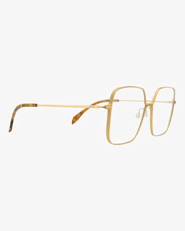 MITA Gold Oversized Blue Block Glasses 2