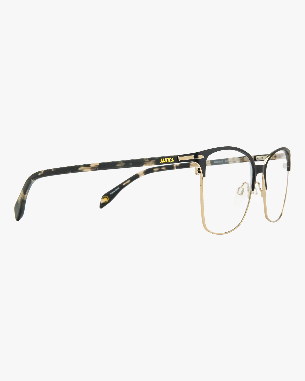 MITA Black Square Blue Block Glasses 1