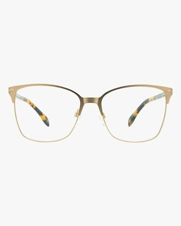MITA Gold Square Blue Block Glasses 1