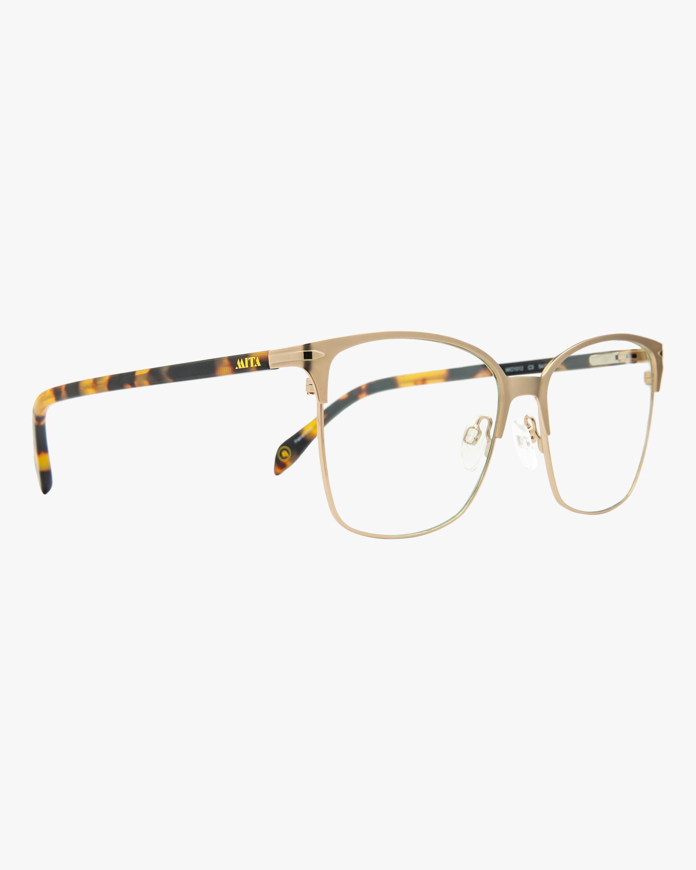 MITA Gold Square Blue Block Glasses 2