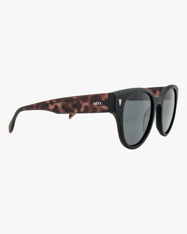 MITA Brickell Black Cat-Eye Sunglasses 2