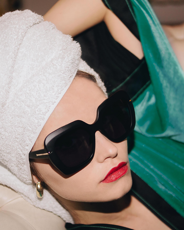 MITA Mare Black Oversized Sunglasses 4
