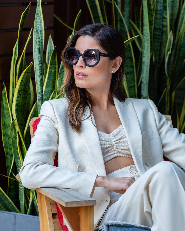 MITA Sole Black Oversized Sunglasses 4