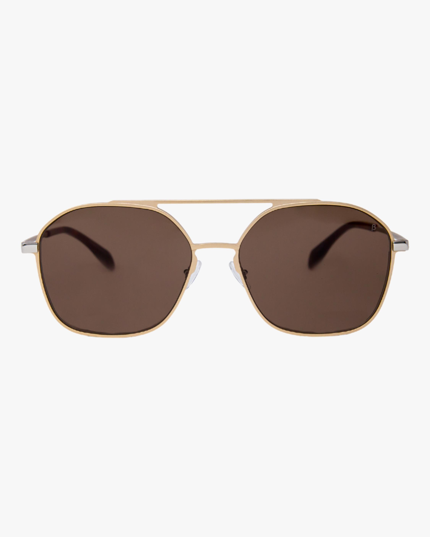 MITA Duomo Gold Squared Aviator Sunglasses 1