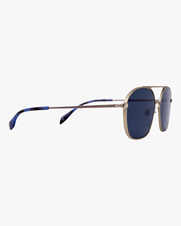 MITA Duomo Silver Squared Aviator Sunglasses 1
