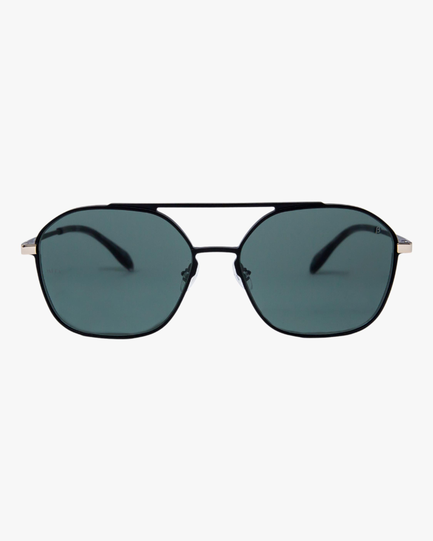 MITA Duomo Black Squared Aviator Sunglasses 0