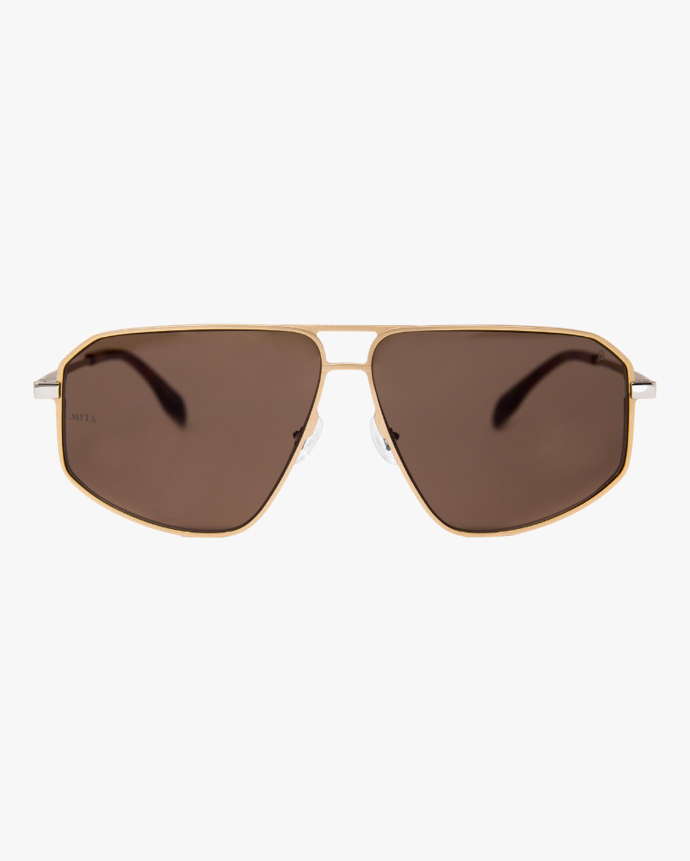 MITA Milano Gold Angular Aviator Sunglasses 1