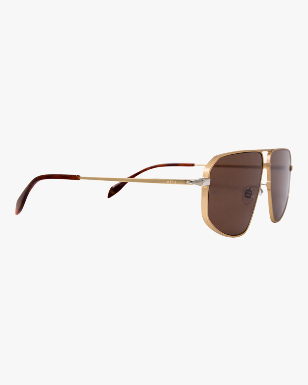 MITA Milano Gold Angular Aviator Sunglasses 2