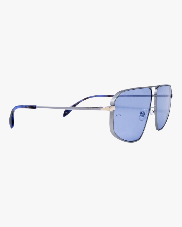 MITA Milano Silver Angular Aviator Sunglasses 2