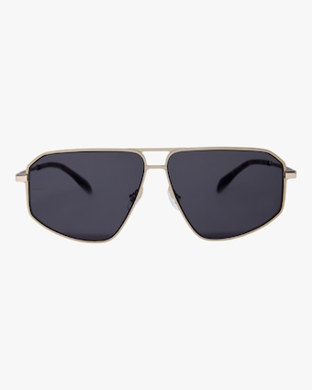 MITA Milano Black Angular Aviator Sunglasses 1