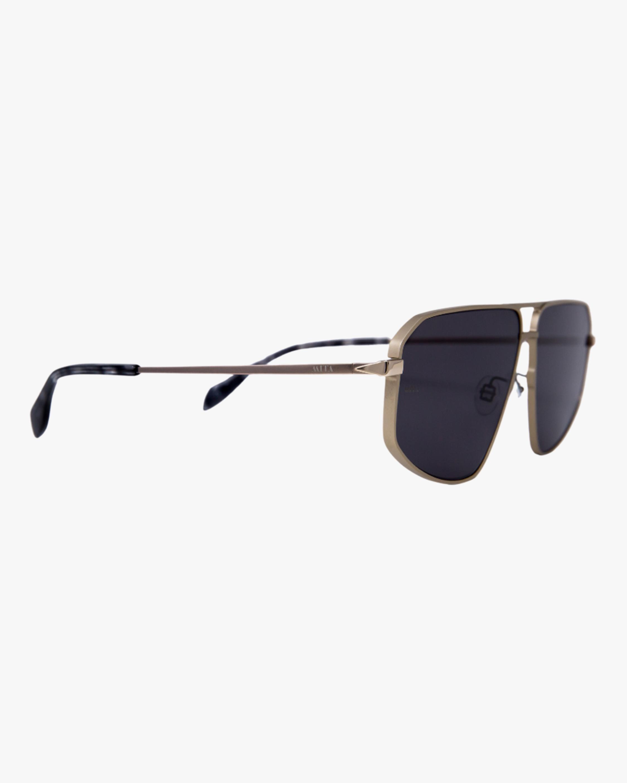 MITA Milano Black Angular Aviator Sunglasses 2