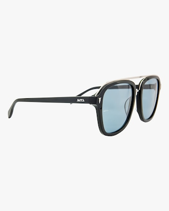 MITA Lincoln Black Square Sunglasses 2