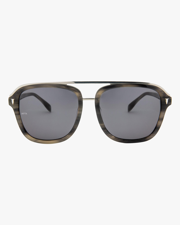 MITA Lincoln Brown Square Sunglasses 1