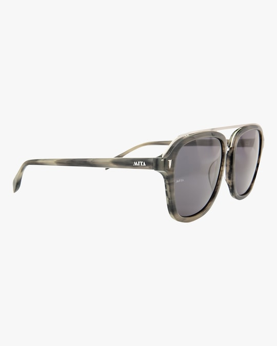 MITA Lincoln Brown Square Sunglasses 1