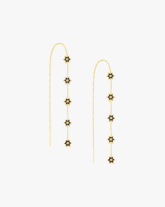 Legend Amrapali Mini Six-Sided Star Earrings 2