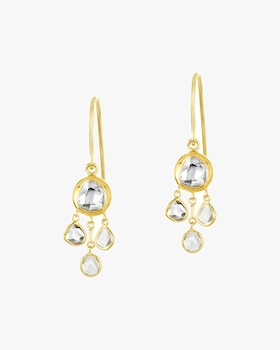 Kundan & Polki Diamond Chandelier Earrings