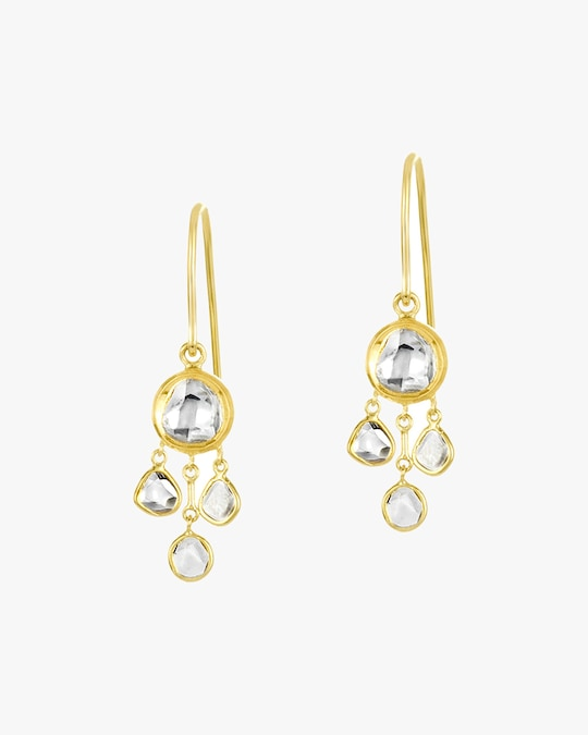 Legend Amrapali Kundan & Polki Diamond Chandelier Earrings 0