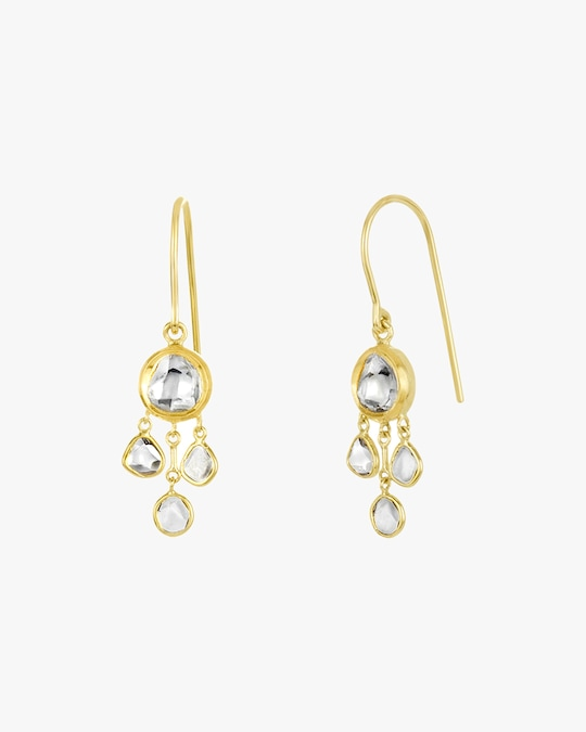 Legend Amrapali Kundan & Polki Diamond Chandelier Earrings 1