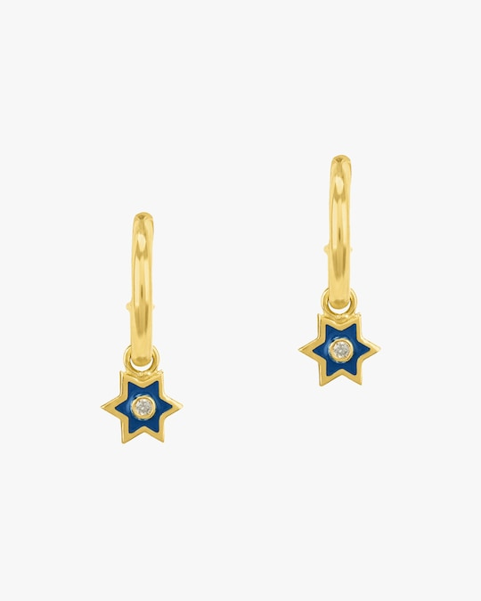 Legend Amrapali Mini Six-Sided Star Hoop Earrings 0