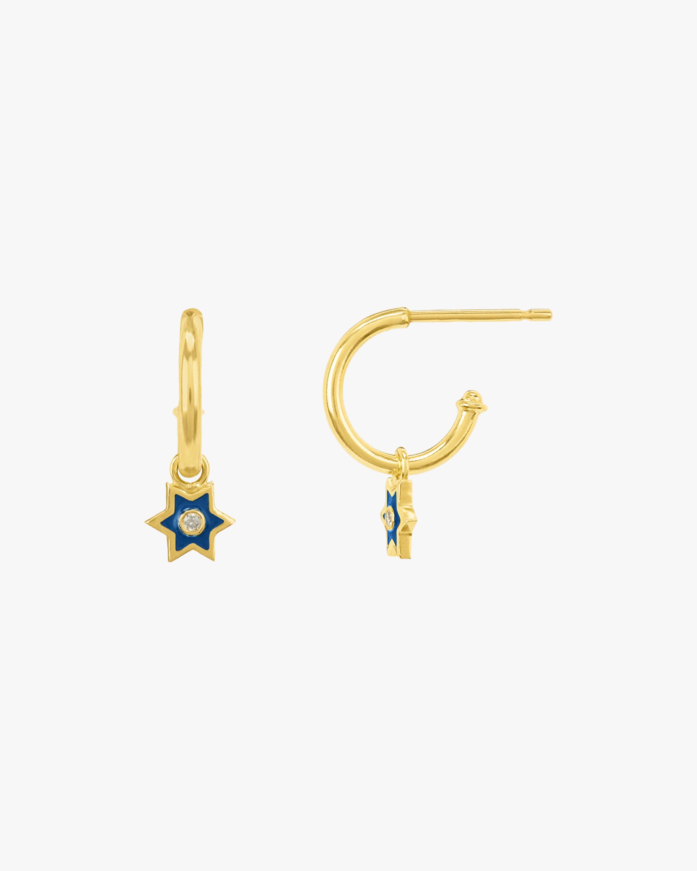 Legend Amrapali Mini Six-Sided Star Hoop Earrings 2