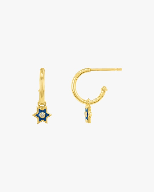 Legend Amrapali Mini Six-Sided Star Hoop Earrings 1