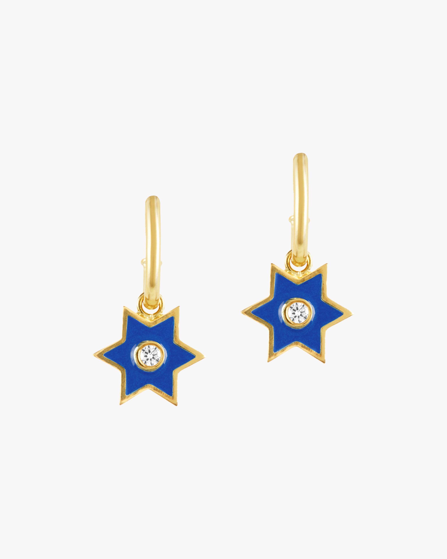 Legend Amrapali Six-Sided Star Hoop Earrings 1