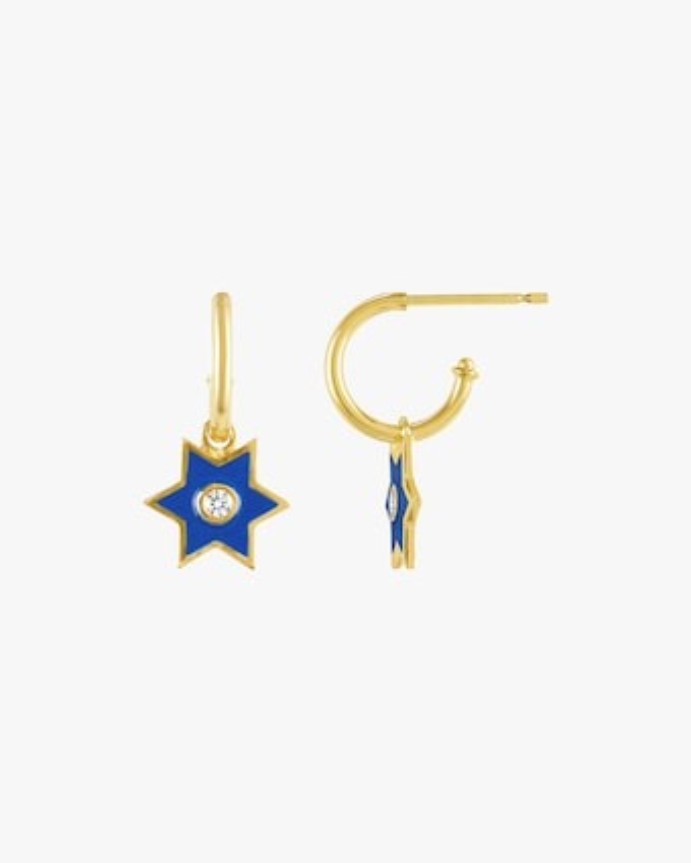 Legend Amrapali Six-Sided Star Hoop Earrings 2