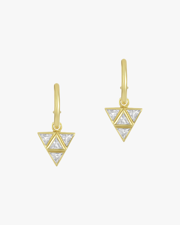 Legend Amrapali Rasayana Triple Triangle Hoop Earrings 2
