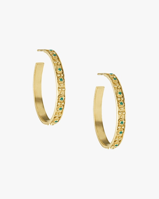 Legend Amrapali Heritage Halo Hoop Earrings 0