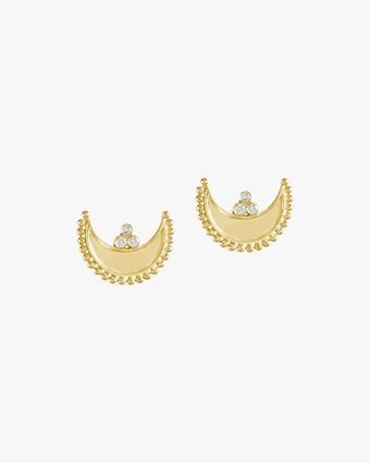 Legend Amrapali Heritage Crescent Stud Earrings 1