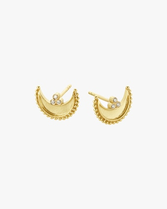 Legend Amrapali Heritage Crescent Stud Earrings 2