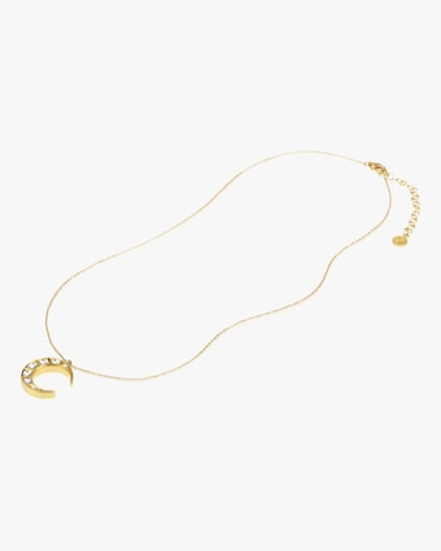Legend Amrapali Kundan Diamond Crescent Pendant Necklace 2