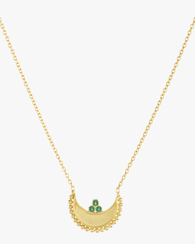 Legend Amrapali Emerald Heritage Crescent Pendant Necklace 1