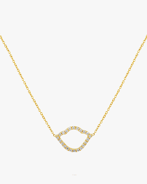 Nalika Lotus Silhouette Pendant Necklace