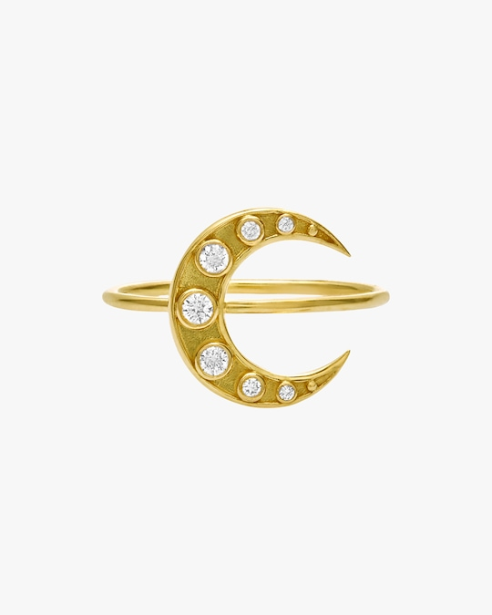 Legend Amrapali Heritage Crescent Moon Ring 0
