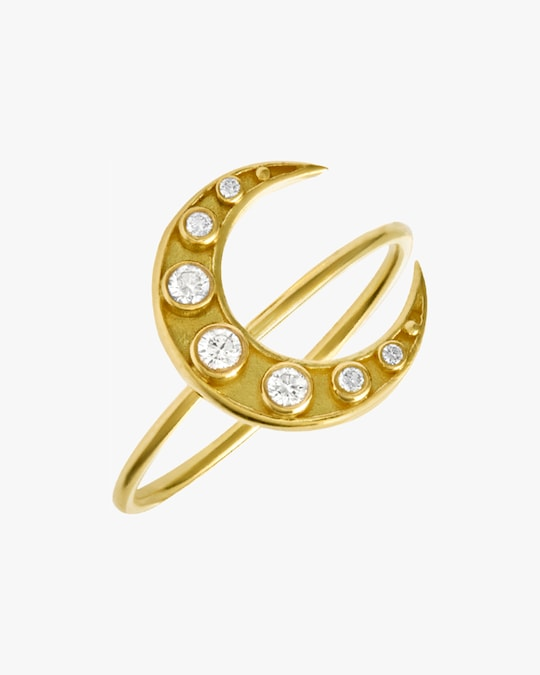 Legend Amrapali Heritage Crescent Moon Ring 1