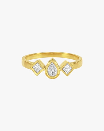 Legend Amrapali Diya Teardrop Square Ring 1
