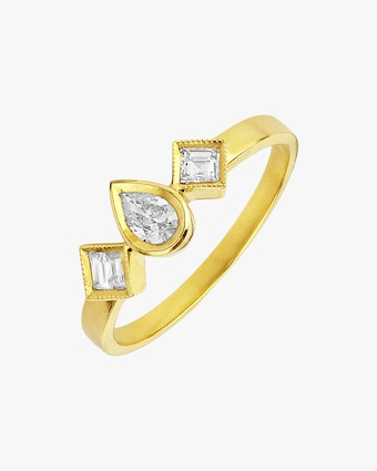 Legend Amrapali Diya Teardrop Square Ring 2