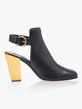 Detailed Gancio Block Heel Bootie
