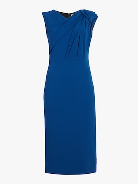 Sleeveless Crepe Twist Dress