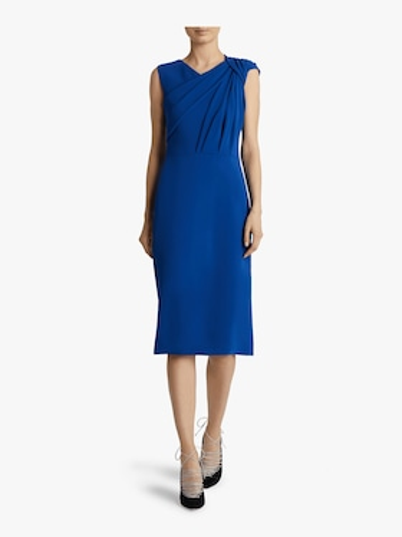 Sleeveless Crepe Twist Dress