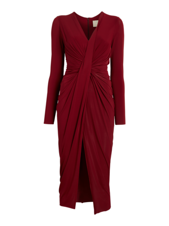 Fluid Jersey Twist Draped Dress