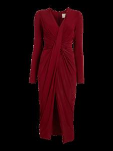 Fluid Jersey Twist Draped Dress