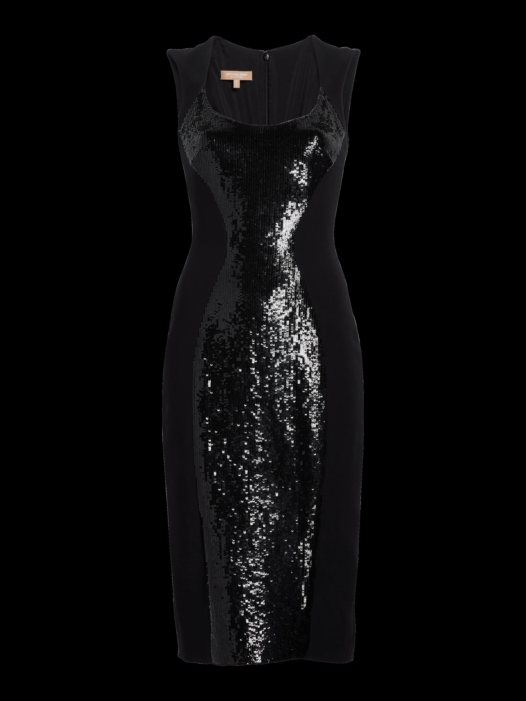 Sequin Scoop Neck Sheath Dress