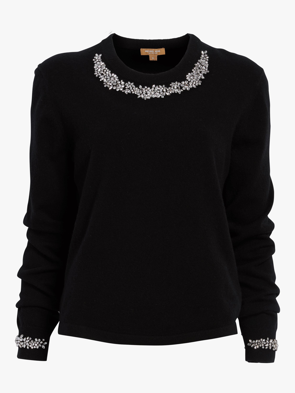 Crystal Necklace Crewneck Sweater