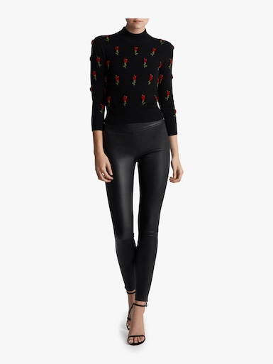 Rose Embroidered Starlet Sweater