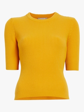 Elbow Sleeve Crewneck Sweater