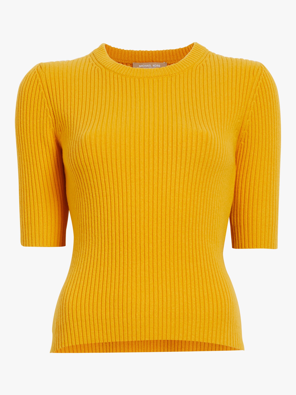 Elbow Sleeve Crewneck Sweater