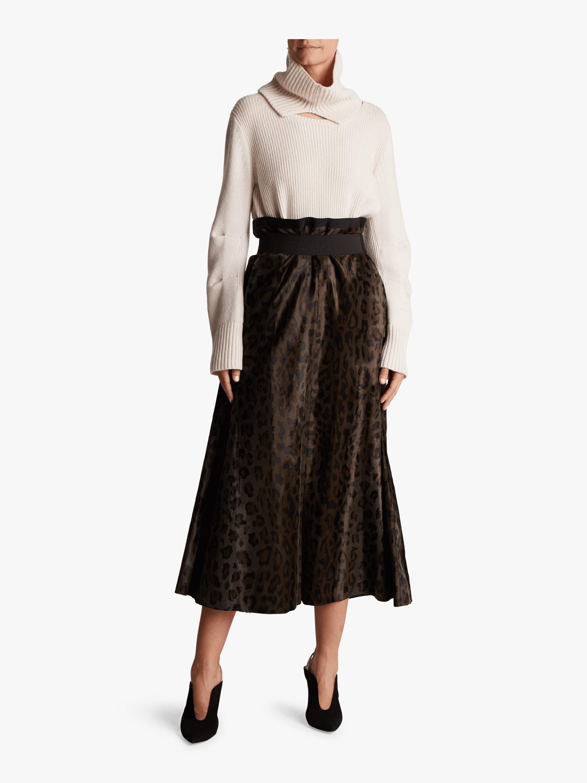 Leopard Deluxe High Waisted Skirt